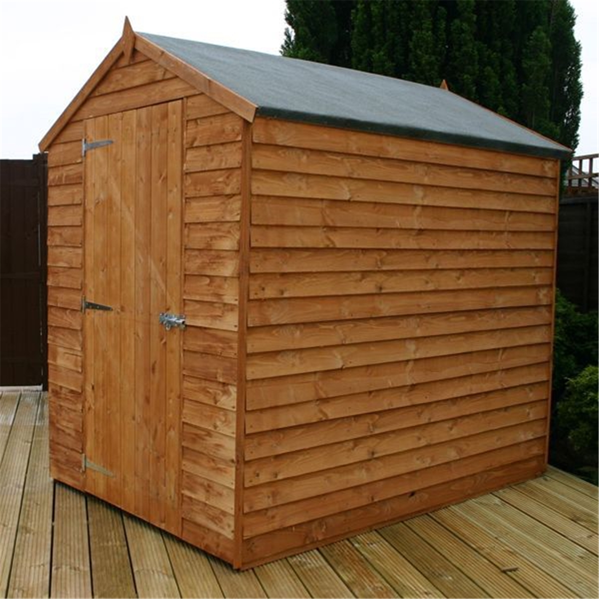 7 X 5 Windowless Overlap Apex Shed With Single Door (10mm