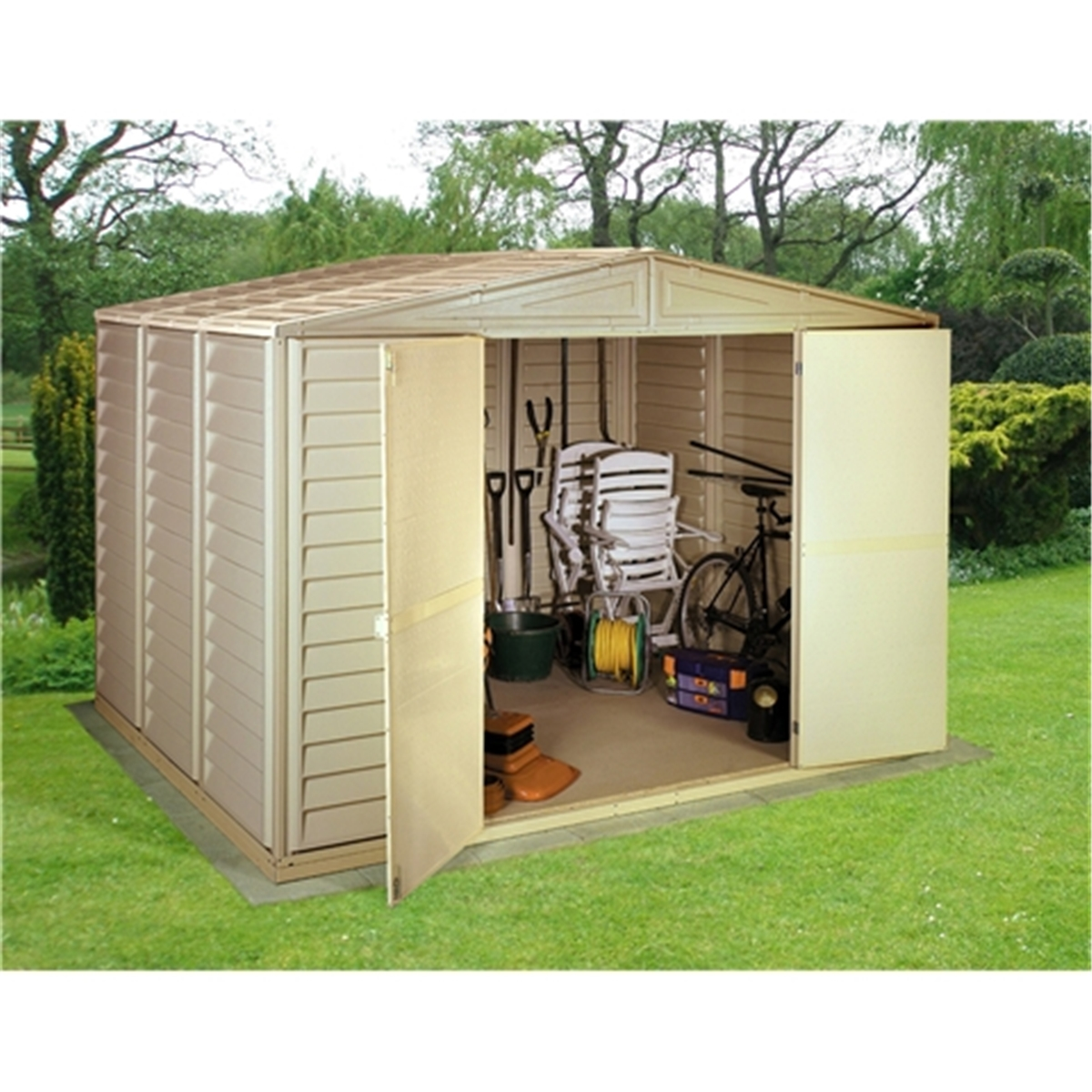 Disco 10 X 8 Select Duramax Plastic Pvc Shed With Steel Frame 3 19m X 2 39m Shedsfirst