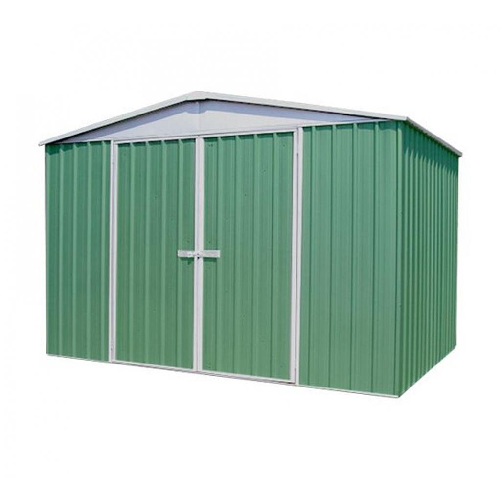 9 39 10 x 12 39 premier regent eucalyptus metal shed 3m x 3 for 9 x 9 garden shed