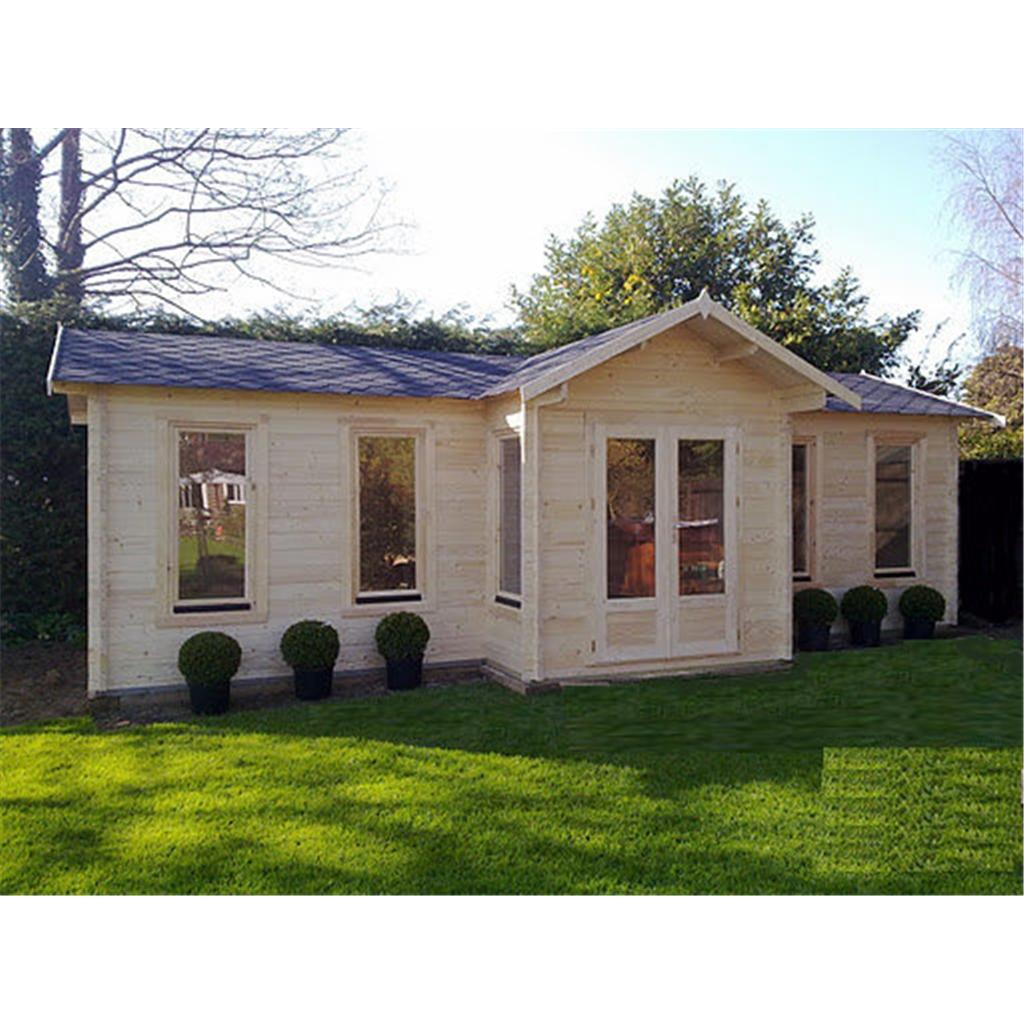 8.5m X 4.5m (28 X 15) Apex Reverse Log Cabin (2127