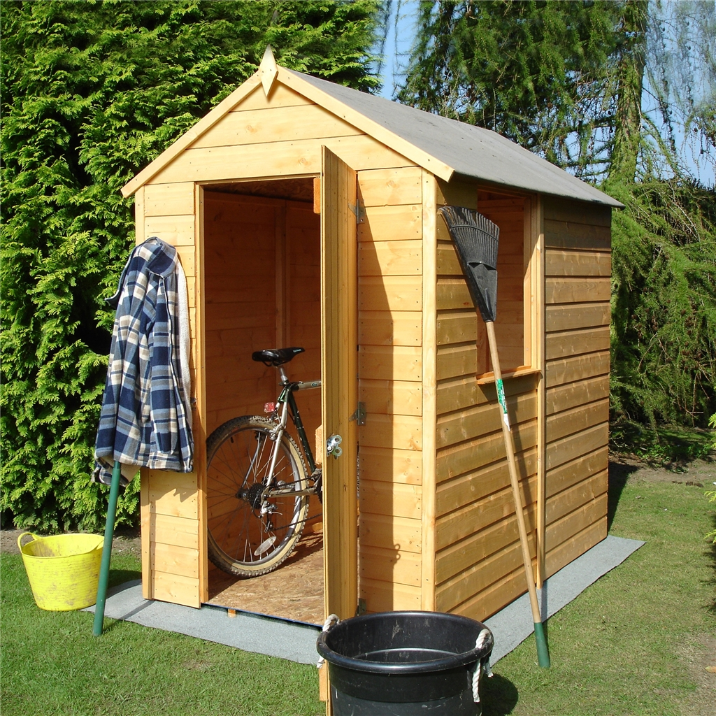 6 X 4 Tongue And Groove Apex Garden Shed Workshop 10mm