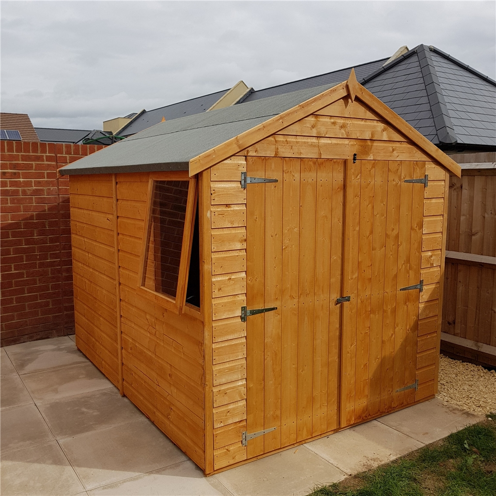 8 x 6 tongue and groove apex garden shed workshop with for Apex garden sheds
