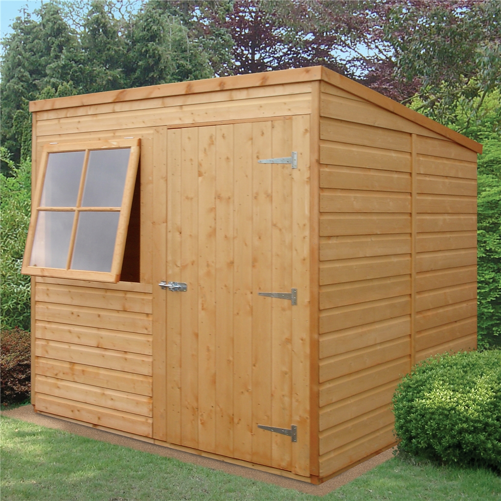 7 X 7 Tongue And Groove Pent Garden Shed / Workshop (10mm Osb Floor ...