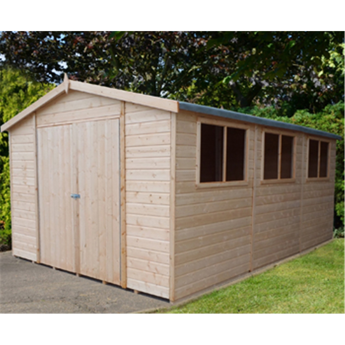 20 X 10 Tongue And Groove Wooden Garden Shed Workshop