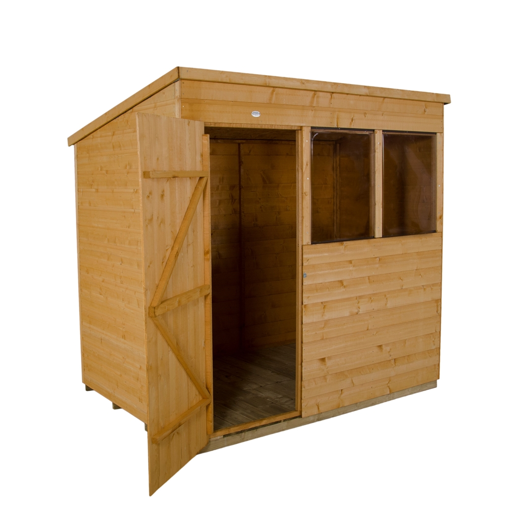 7 x 5 pent shiplap tongue and groove shed shedsfirst for Plastic pent shed