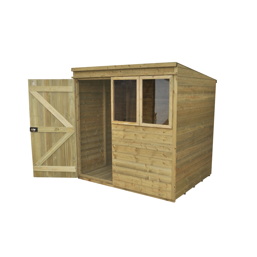 7ft x 5ft pressure treated shiplap tongue and groove pent. Black Bedroom Furniture Sets. Home Design Ideas