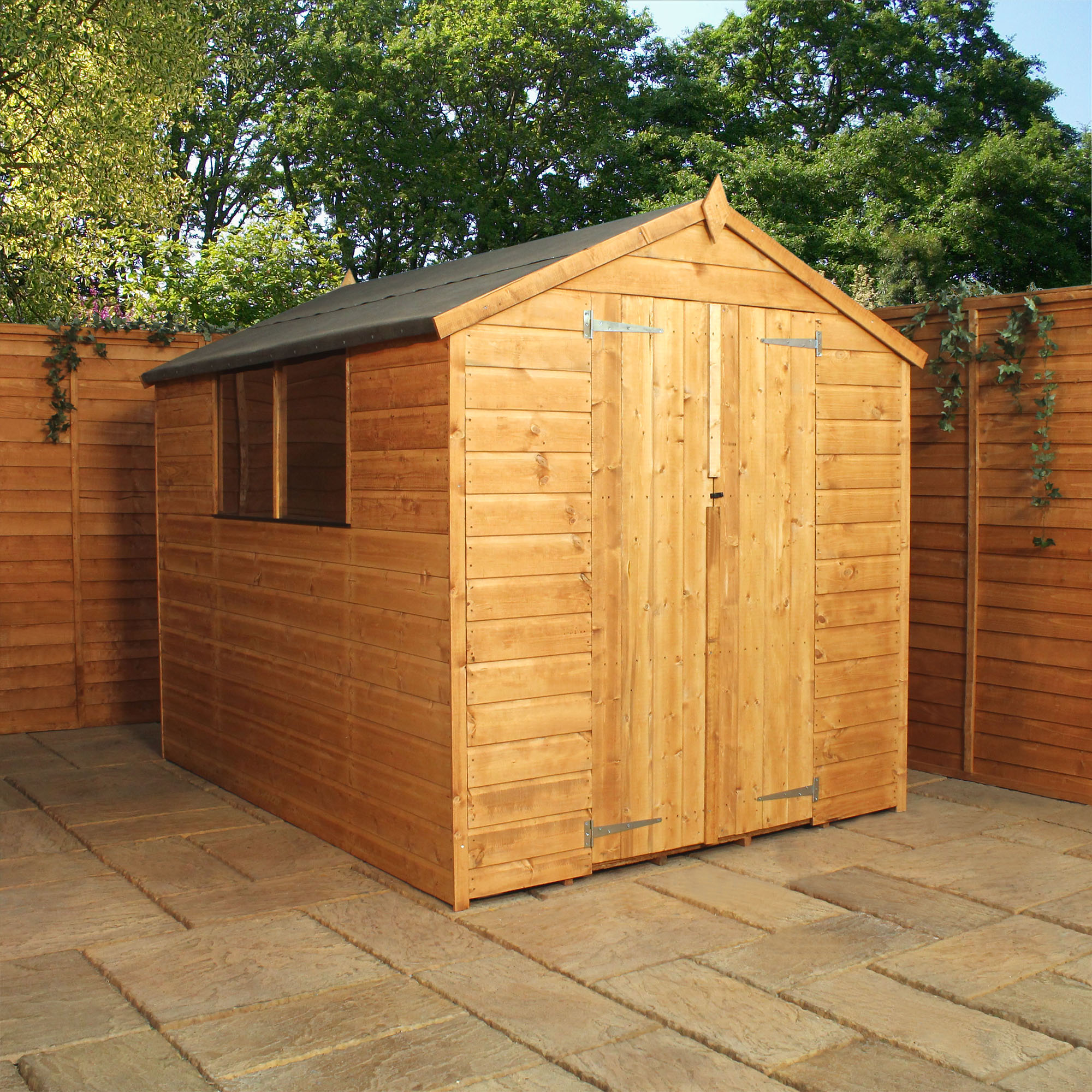 8 X 8 Tongue And Groove Apex Shed With Double Door Solid