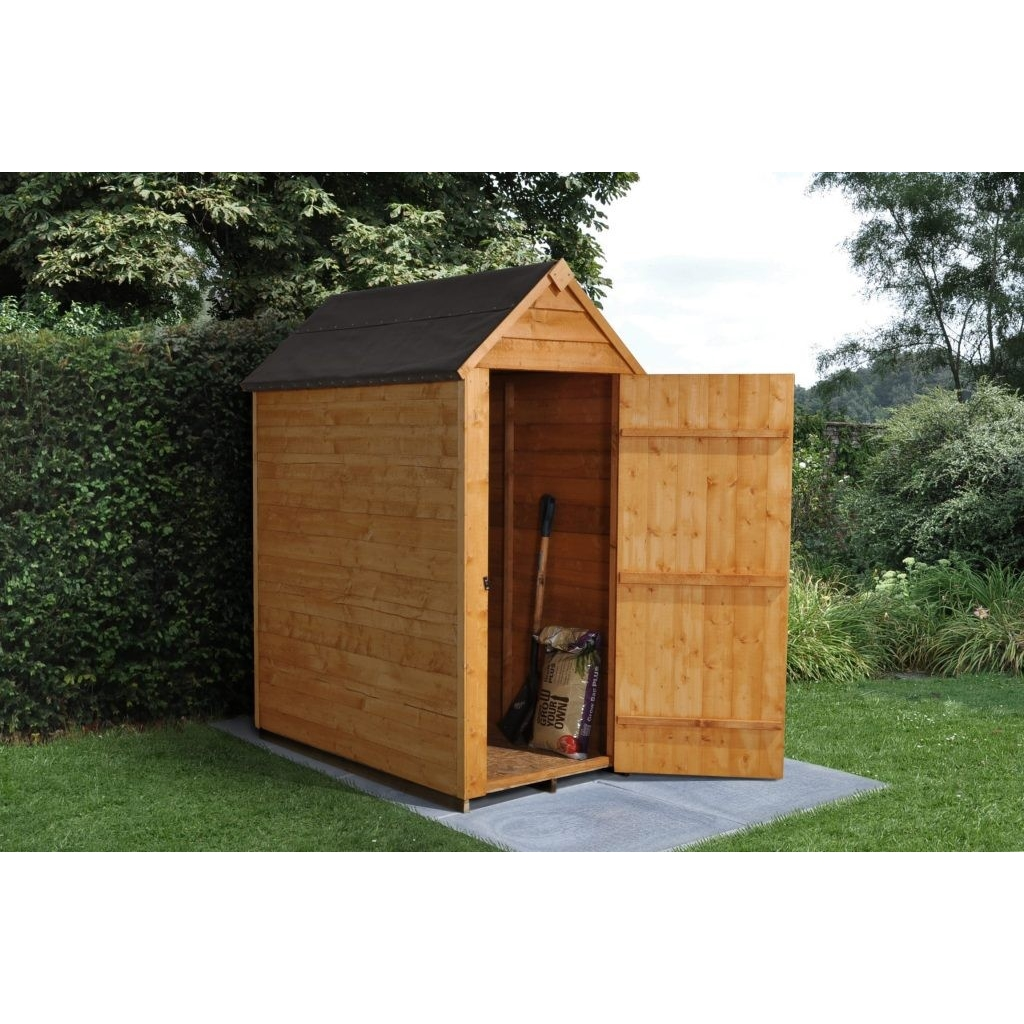 3 X 5 0 9m X 1 6m Windowless Overlap Apex Shed With