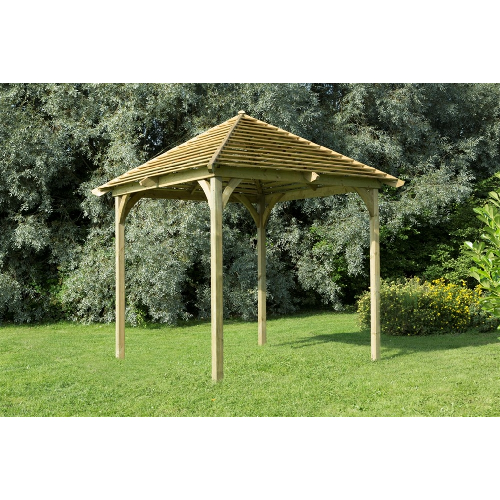 10 x 10 venetian pavilion without decking shedsfirst for Garden decking homebase