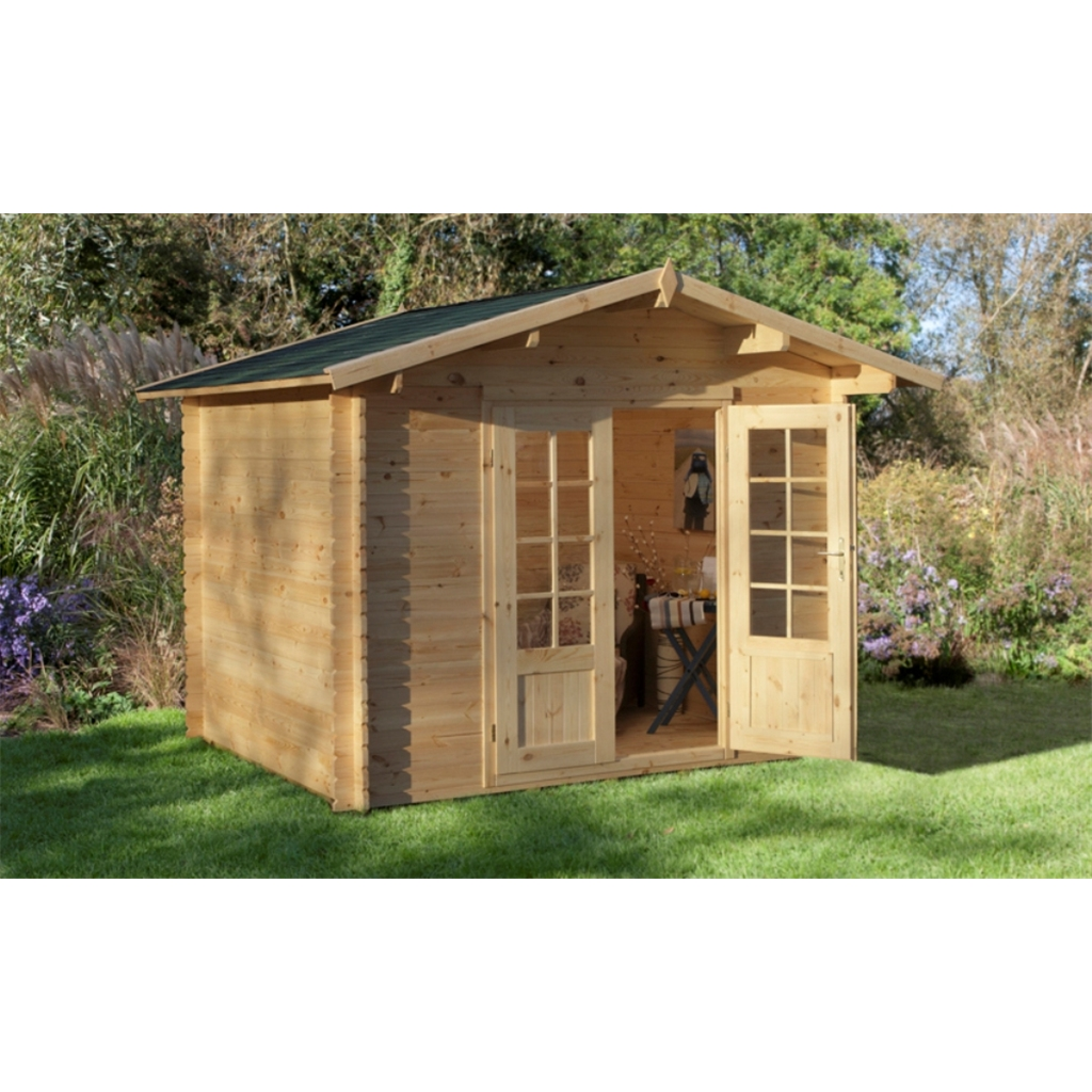X apex log cabin single glazing 28mm for Free log cabin