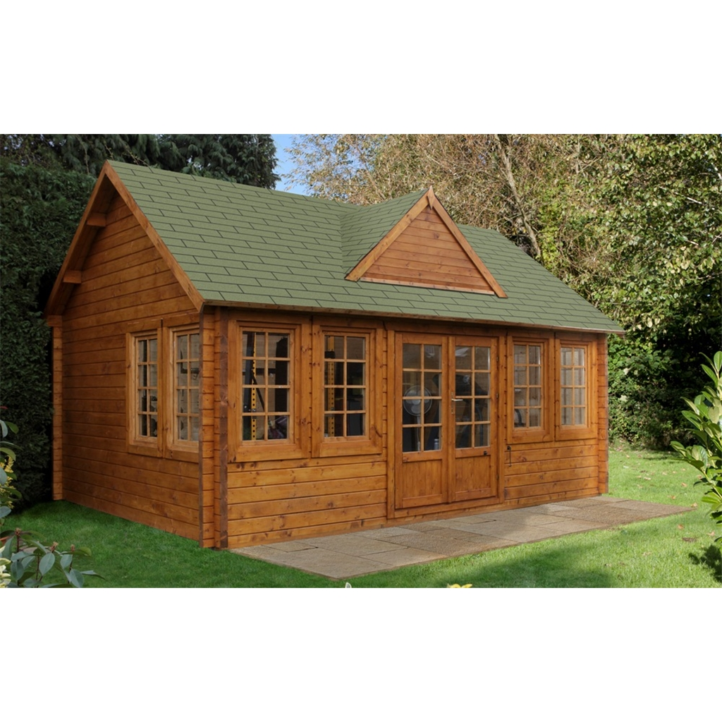 X Apex Log Cabin With 8 Windows Double Glazing
