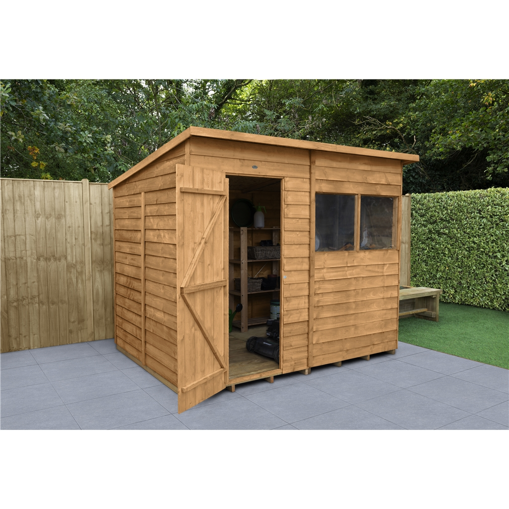 8ft X 6ft Dip Treated Pent Overlap Shed 2 4m X 1 9m