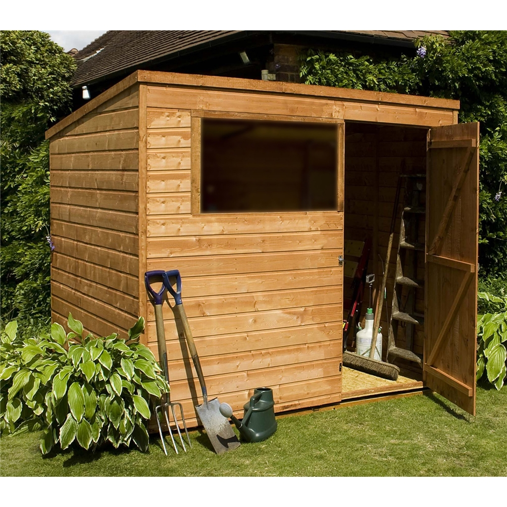 Installed 8 X 6 Tongue And Groove Pent Shed With Single