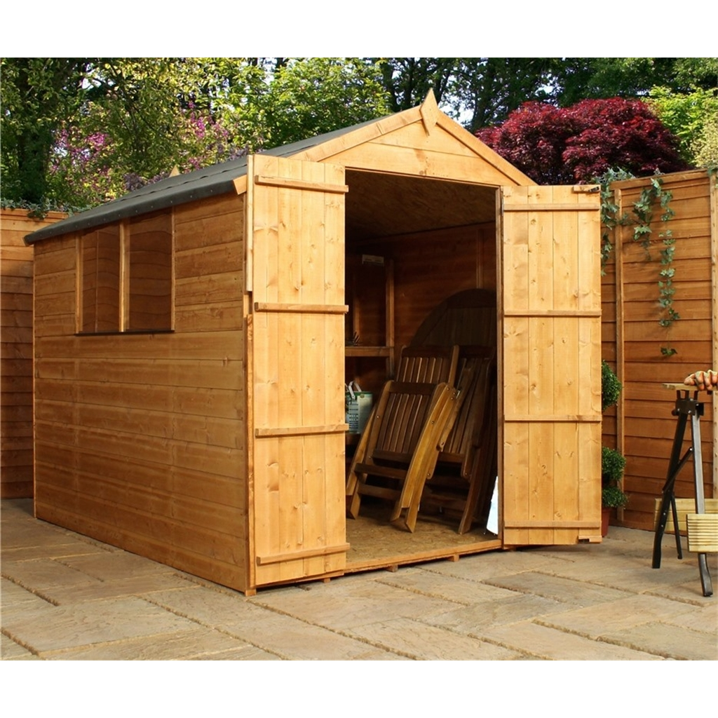 Installed 8 X 6 Tongue And Groove Apex Shed With Double