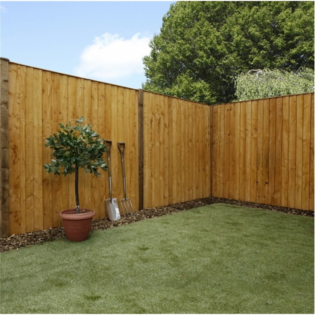 3ft Vertical Feather Edge Fencing Flat Top 1 Panel