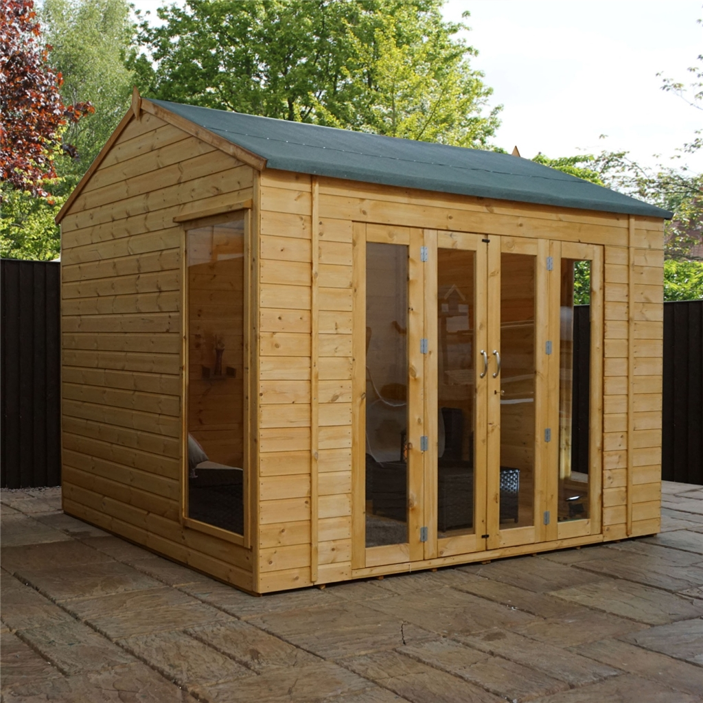 10 X 8 Vermont Reverse Tongue And Groove Summerhouse 12mm