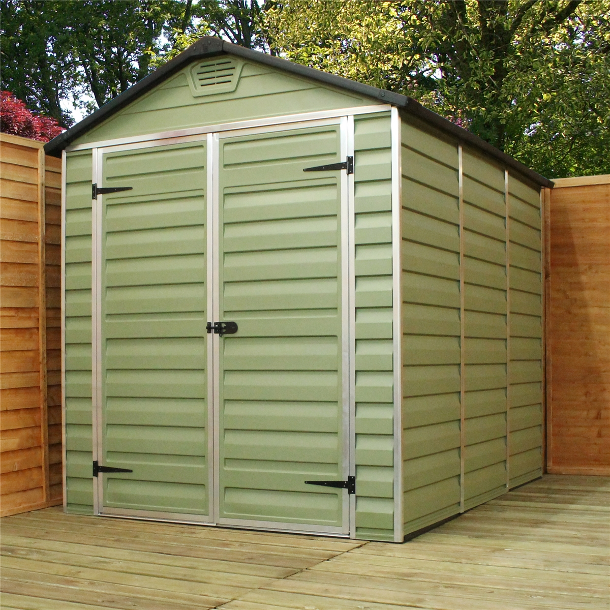 Installed 12 X 6 Plastic Apex Shed 3 65m X 1 88m