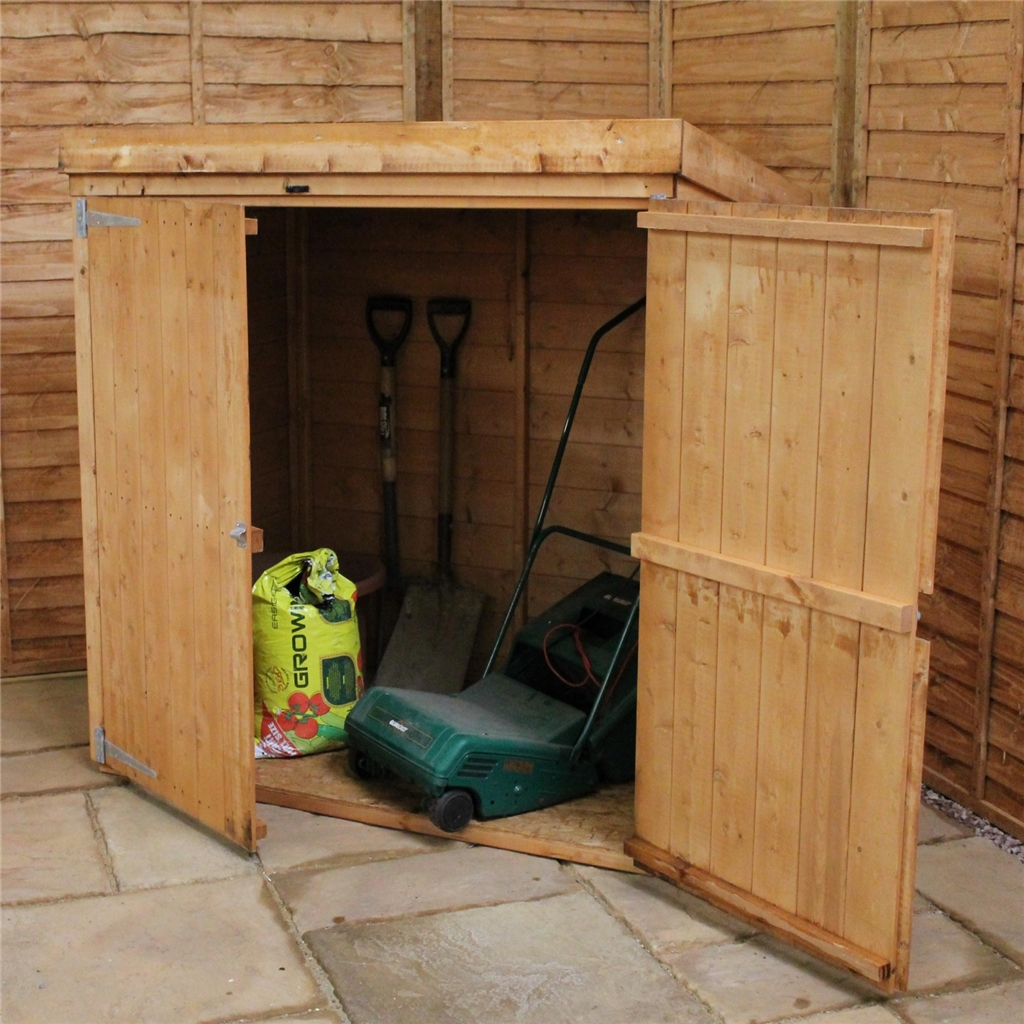 5 X 3 Wooden Tongue And Groove Pent Mower Shed With Double