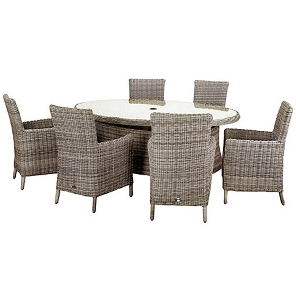 6 Seater 7 Piece Wentworth Elipse Oval Carver Dining