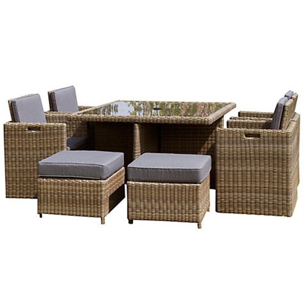 Oos 8 Seater 9 Piece Wentworth Cube Set 125cm