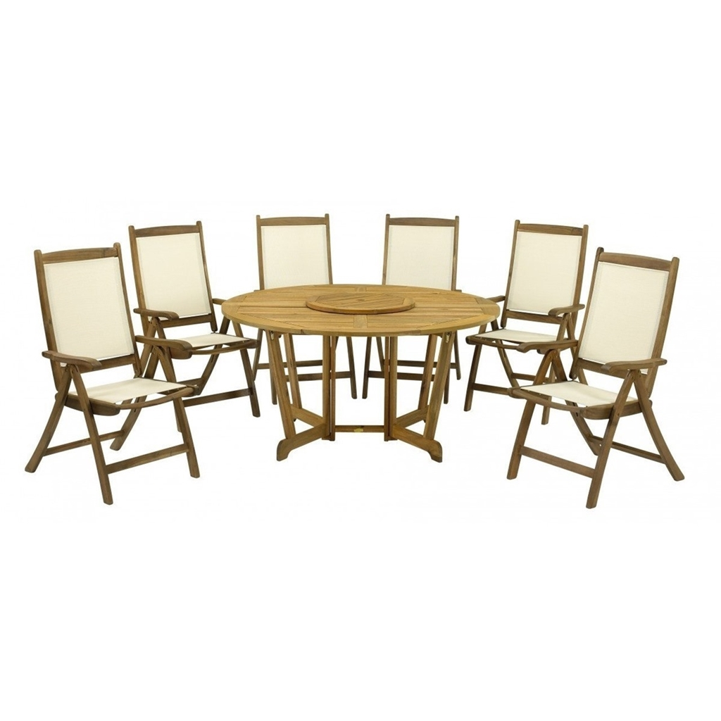 6 Seater 8 Piece Henley Round Dining Set With Henley