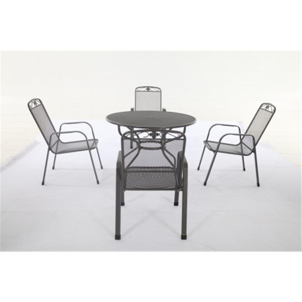 4 Seater 5 Piece Savoy Dining Set 105cm Round Table