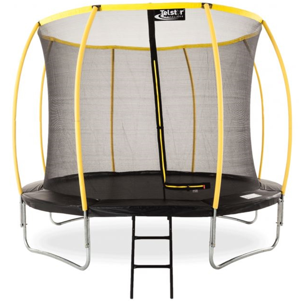 10ft Orbit Trampoline Including A Enclosure Package And
